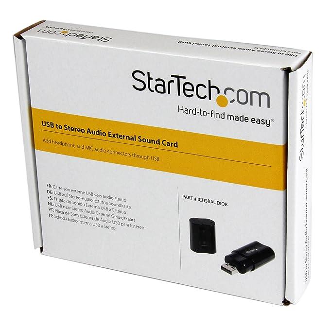 StarTech.com USB Stereo Audio Adapter External Sound Card (ICUSBAUDIOB)