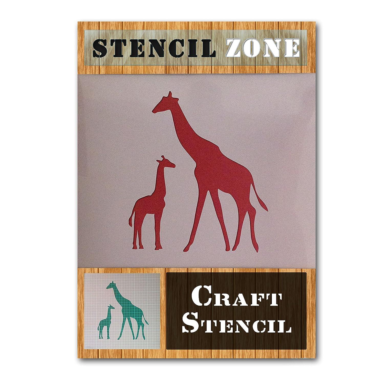 Giraffe Wild Animal Zoo Mylar Airbrush Painting Wall Art Crafts Stencil 1