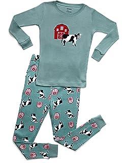 be138ff83b Leveret Kids & Toddler Pajamas Boys Girls 2 Piece Pjs Set 100% Organic  Cotton Sleepwear