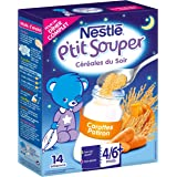 Nestlé Bébé P'tit Souper Carottes Potiron Céréales du soir dès 4/6 mois 250g - Lot de 6