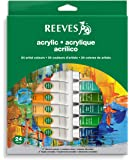Reeves 24-Pack Acrylic Colour Tube Set, 10ml