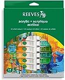 Reeves - Pinturas acrílicas (10 ml, 24 tubos), colores surtidos