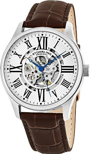 Stührling Original 747.01 - Reloj analógico para Hombre, Correa de Acero Inoxidable, Color marrón: Amazon.es: Relojes