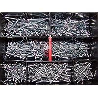 Blindnieten Set Sortiment Alu/Stahl 400 Teile Din 7337 Popnieten
