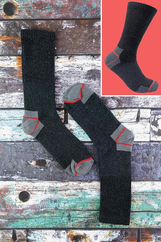Long work socks 3 Pack Ultimate Taglia 39-45 di calze da lavoro da uomo a lunga durata per stivali con punta in acciaio