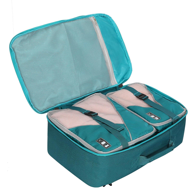 Azul 1, Mochila + Cubierta Impermeable para Mochila Hynes Eagle Bolsa de Viaje 40L Cabin aprobada para Viajar en Cabina como Equipaje de Mano 55x40x20 cm