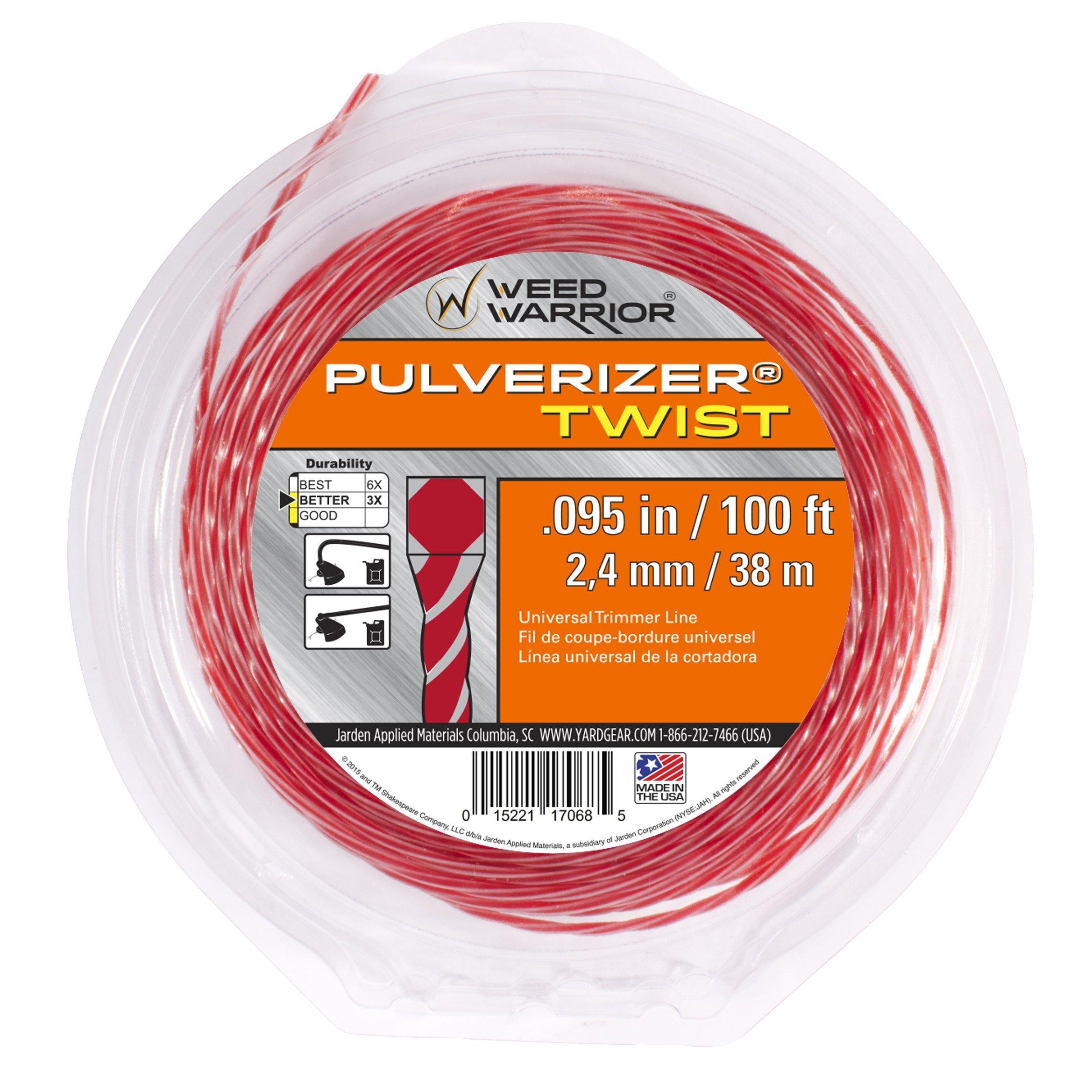 Weed Warrior 17068 Pulverizer Bi-Component Twist Trimmer Lines, 095'' by 100'