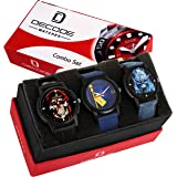 Decode Combo Of 3 Monster Analog Multi Color Dial Watches For Men/Boys