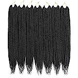 Ailsa 7Packs Crochet Braids Hair Senegalese Twist Crochet Hair 30Strands/Pack(14inch,1B)