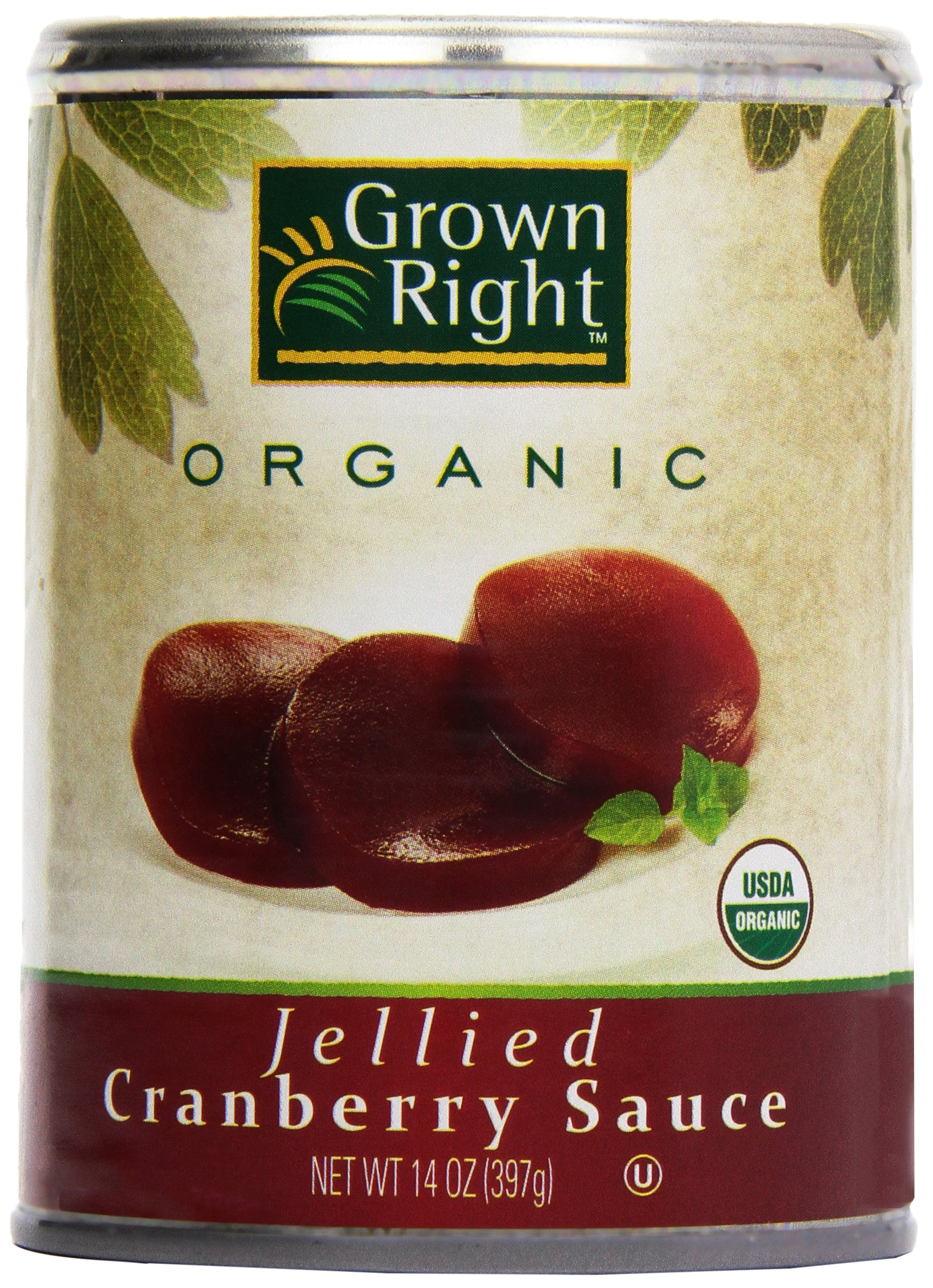 Grown Right Organic Jellied Cranberry Sauce, 16 oz by Grown Right (Image #1)