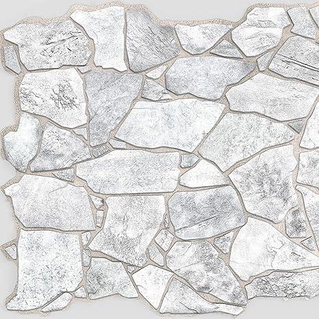 Amazon.com: Wild Grey Stone PVC 3D Wall Panels - Interior ...