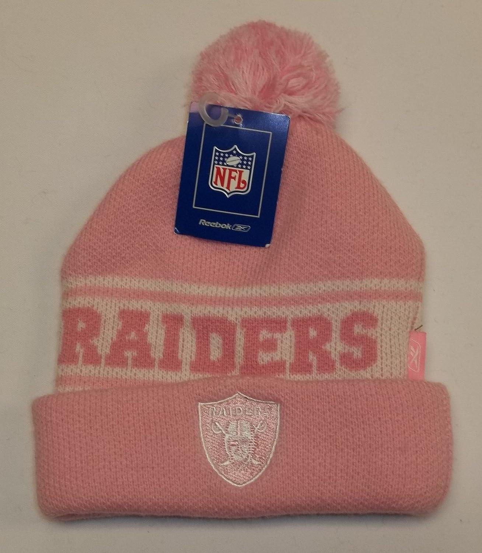 9eab0b5b61f666 ... purchase amazon oakland raiders toddler knit hat by reebok pink w cuff  pom sports outdoors 5e5a0