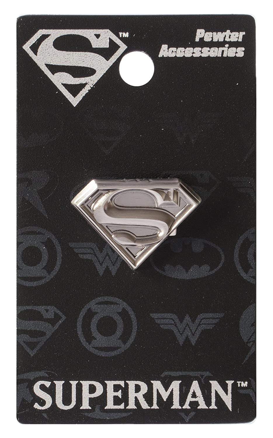 DC Superman Logo Pewter Lapel Pin Monogram International 45181