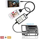 Auxillary Adapter, Moonet Car CD Changer 3.5mm AUX Input IPOD Cables Connect 2003-2012 Accord Civic CRV Fit Odyssey Element Pilot S2000 City Acura MDX CSX RDX TSX