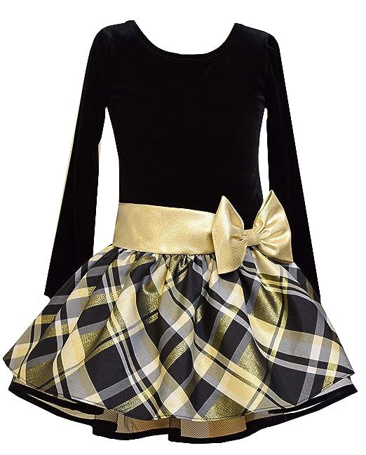 1920s Children Fashions: Girls, Boys, Baby Costumes Bonnie Jean Girls Drop Waist Black and Gold Shimmer Dress (2t-6x) $34.99 AT vintagedancer.com