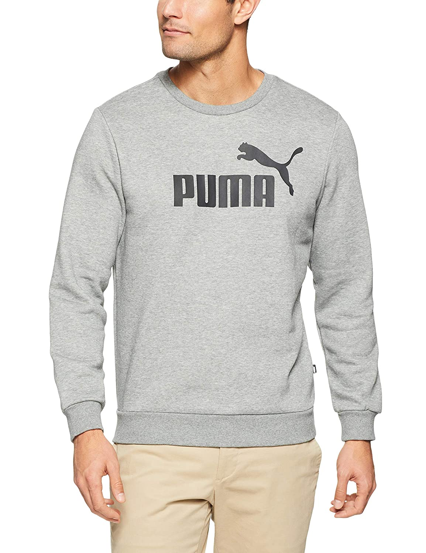 TALLA XL. Puma ESS Crew Sweat FL Big Logo Sudadera, Hombre