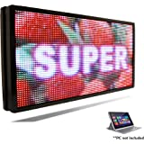 """LED SUPER STORE #1 Full Color LED Signs Customized Size Storefront Message Board, Programmable Scrolling Display - Industrial Grade Business Tools (50"""" x 22"""", FULL COLOR)"""