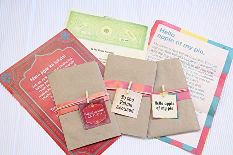Oye Happy 3 Romantic Cheesy Love Letters Gift Your Girlfriend Boyfriend Husband Wife Fiance On Birthday Anniversary Amazonin Office Products