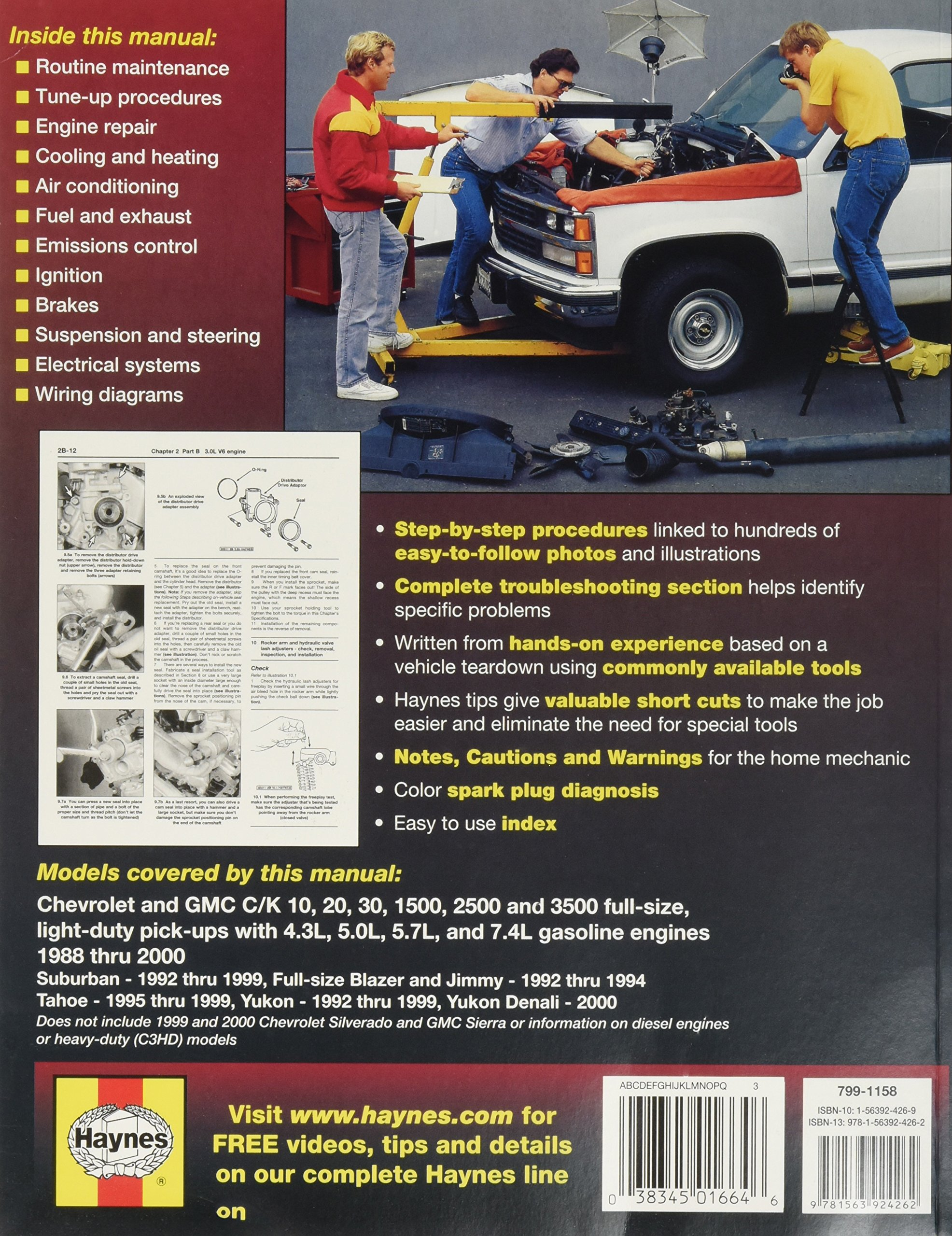 HAYNES REPAIR MANUAL for CHEVY PICK-UP NUMBER 24065 [Automotive]:  0038345016646: Amazon.com: Books