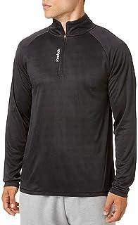 e570ef2f22 Amazon.com : Reebok Running Essentials Long Sleeve 1/4 Zip Pullover ...