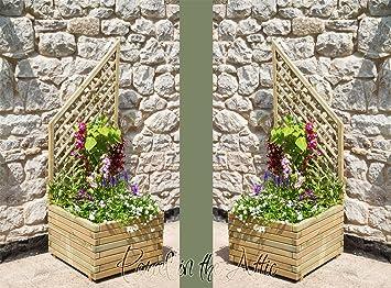 Gartenlaube mit sitz pergola holzspalier bogen bank eckbank