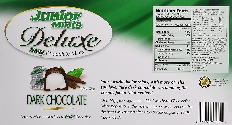 Amazon.com : Junior Mints Deluxe Dark Chocolate Mints (22 Foil ...