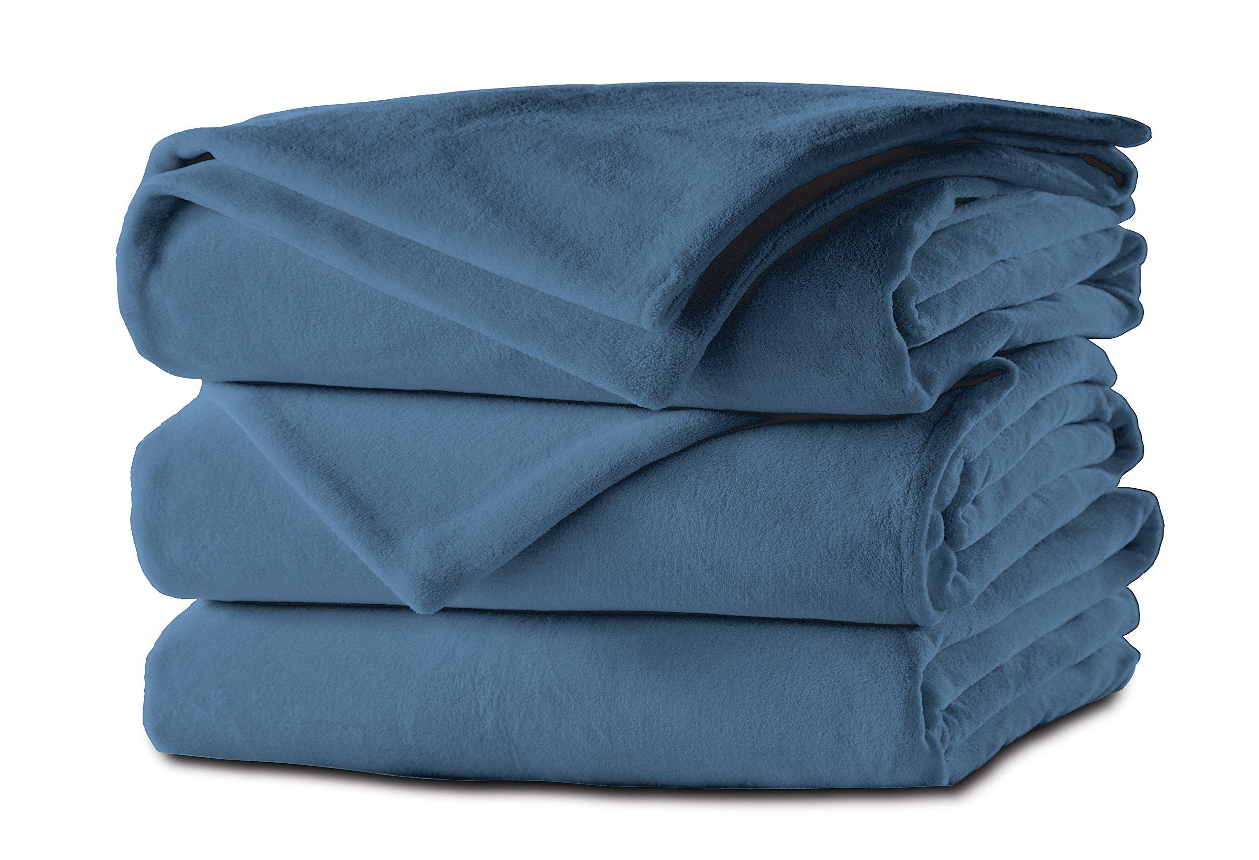 Sunbeam Microplush Heated Blanket, King, Lagoon, BSM9KKS-R531-16A00
