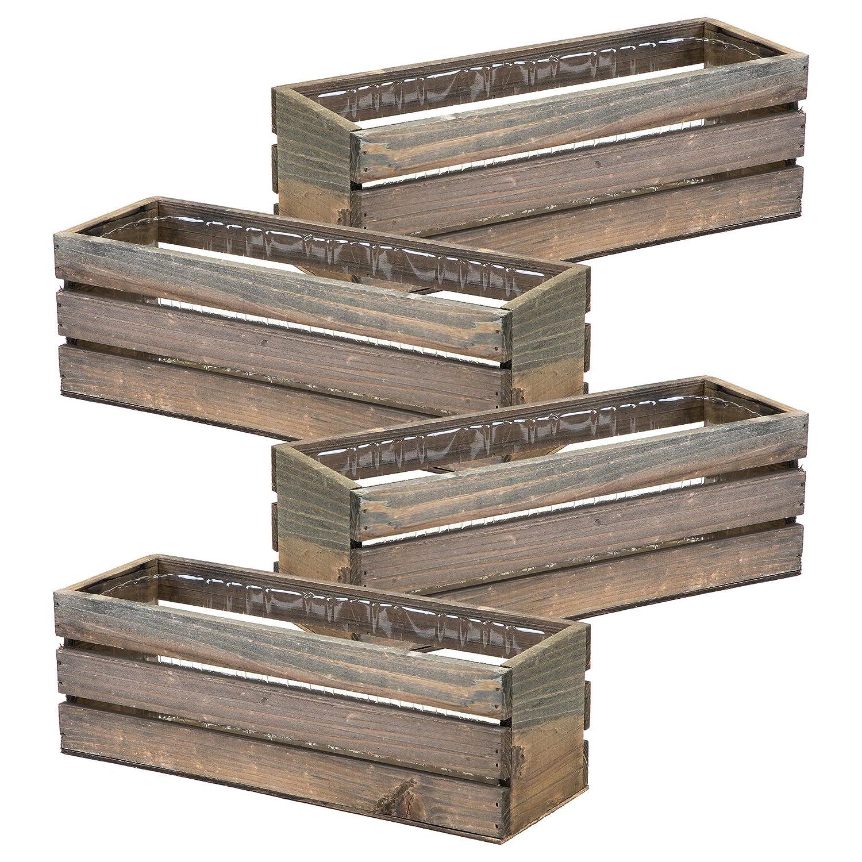 Amazon.com: Macetero de madera, rústico granero madera ...