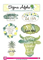 Sigma Alpha - Sticker Sheet - Watercolor Theme