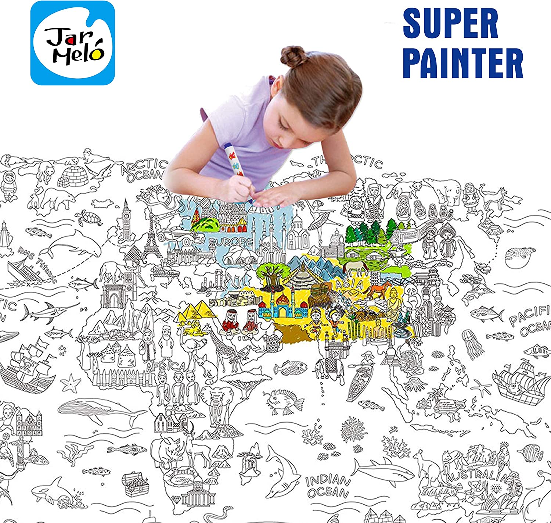 Amazon Com Jar Melo Super Painter Giant Coloring Poster The