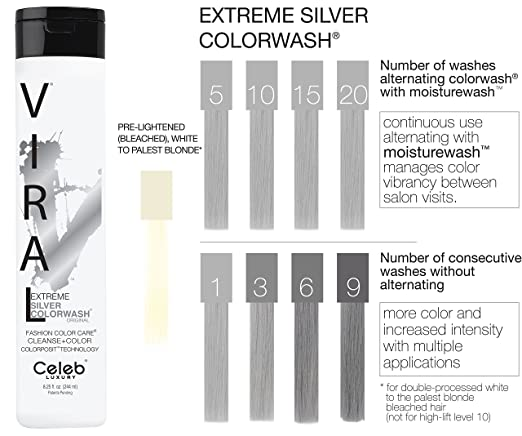 silver extreme colorwash