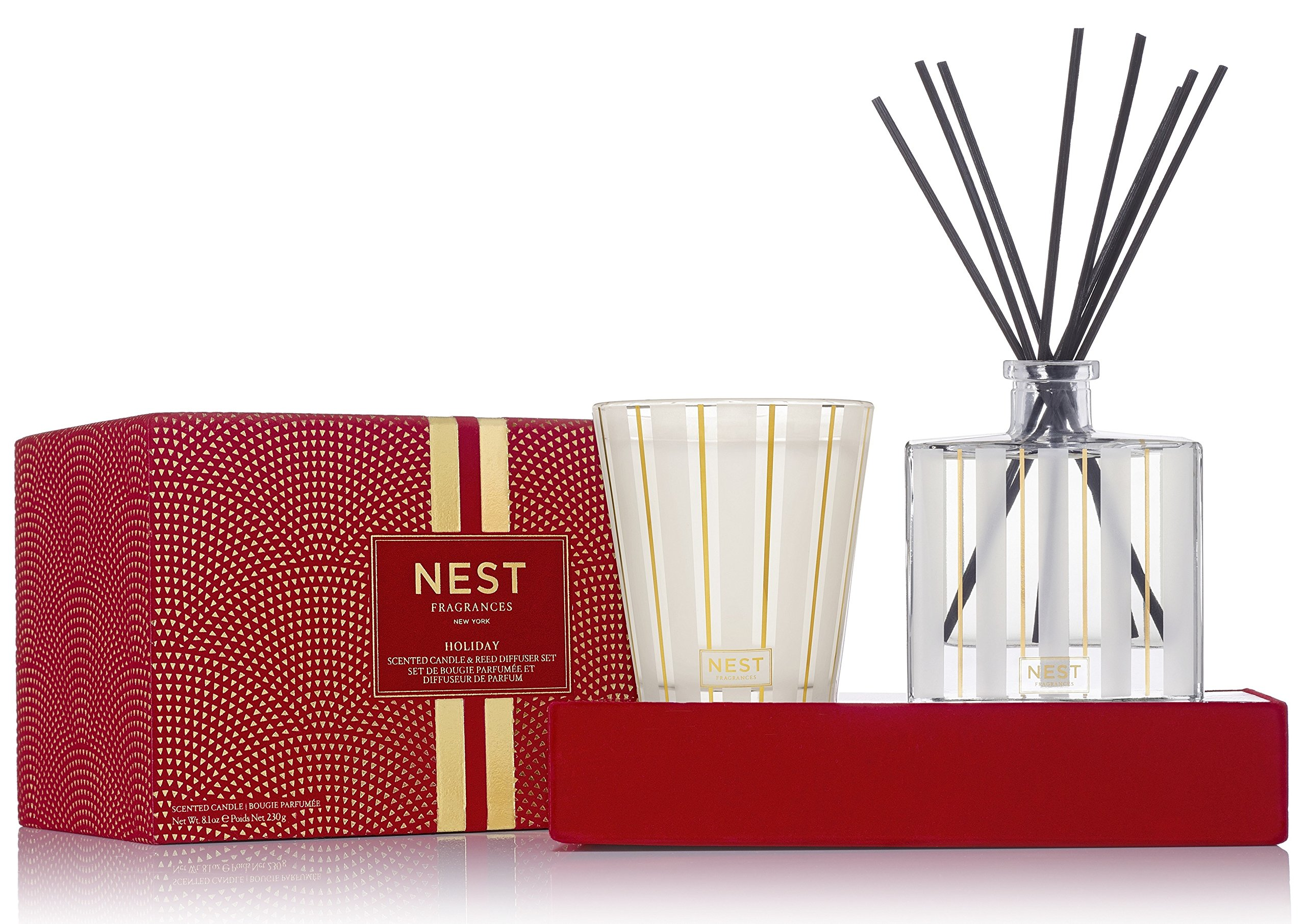 NEST Fragrances Classic Candle & Reed Diffuser Set- Holiday by NEST Fragrances