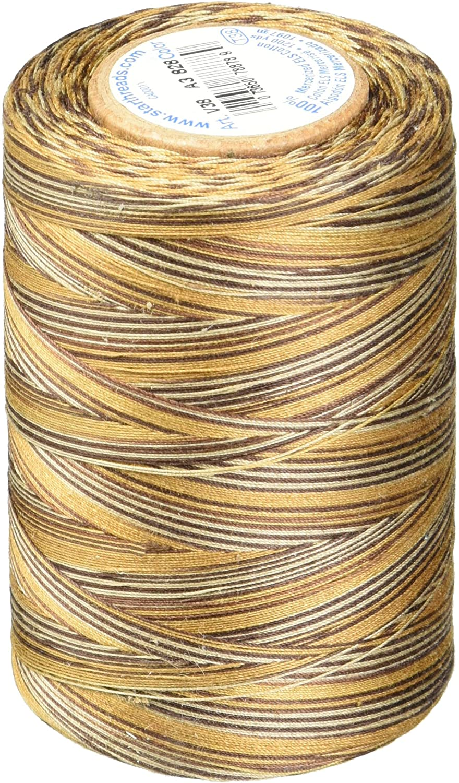 Vineyard Star Thread V38-843 3-Ply 30wt T-35 Cotton Quilting /& Craft Variegated Thread 1200 yd