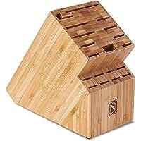 Bloco de armazenamento de facas de bambu Cook N Home NC-00326, 19 compartimentos