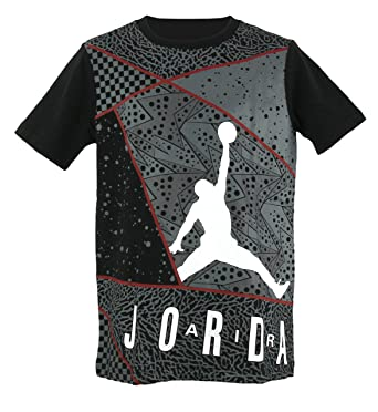 d13f4436a69 Image Unavailable. Image not available for. Color: Nike Boys Jordan Jumpman  Retro Graphic T-Shirt - Black ...