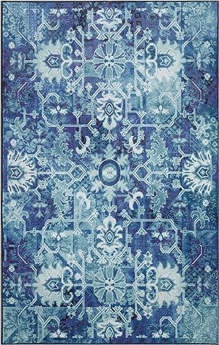 Mohawk Home Prismatic Blanchard Medium Blue Boho Precision Printed Area Rug, 8 x10 ,