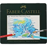 Faber-Castel FC117524 Albrecht Durer Artist Watercolor Pencils in A Tin (24 Pack), Assorted