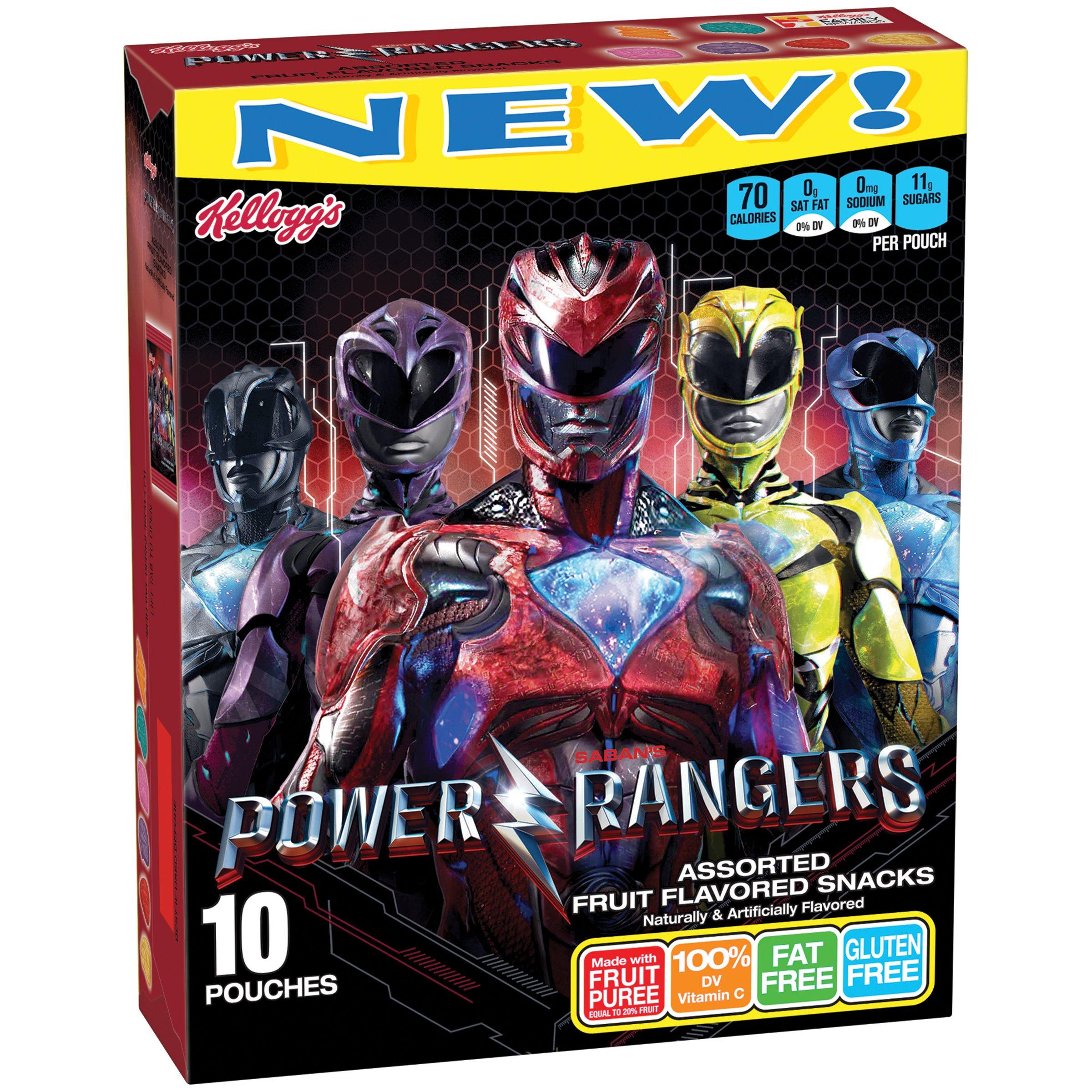 Kellogg's Power Rangers Fruit Flavored Snacks, 10 Count, 8 Ounce