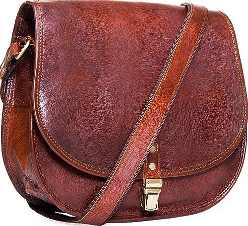Amazon.com: Urban, hecho a mano de piel de piel bolsa de la ...