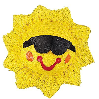 Smiling Sun Pinata (includes hanger) Party Supplies: Toys & Games
