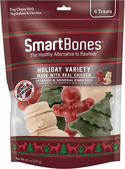 SmartBones Smart Chews Rawhide Free Chews For Dogs, Safari Shape Treats Made with Real Chicken