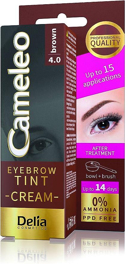 Cameleo Crema de Tinte para Cejas Después del Tratamiento - 15 Aplicaciones - Dura hasta 14 Días (Marrón 4.0)