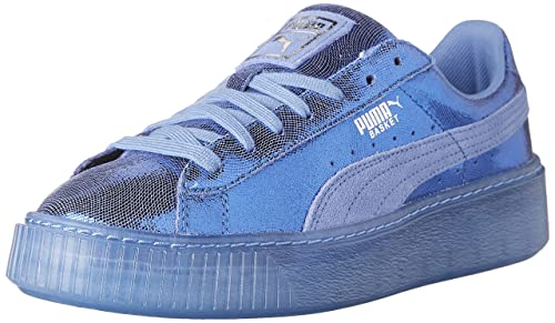 PUMA Womens Basket Platform NS Wn Baja Blue, ...