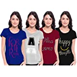 Ladies Pack of 4 T shirt ( season IV - Combo 2 )