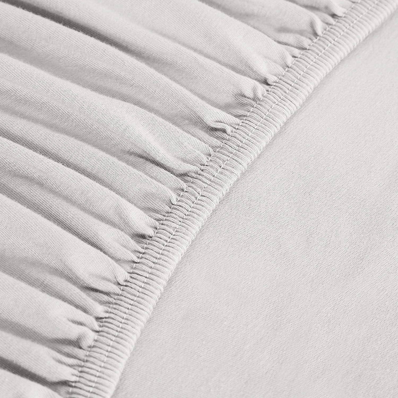 Basics Drap-housse en jersey Gris clair 80 x 200 cm
