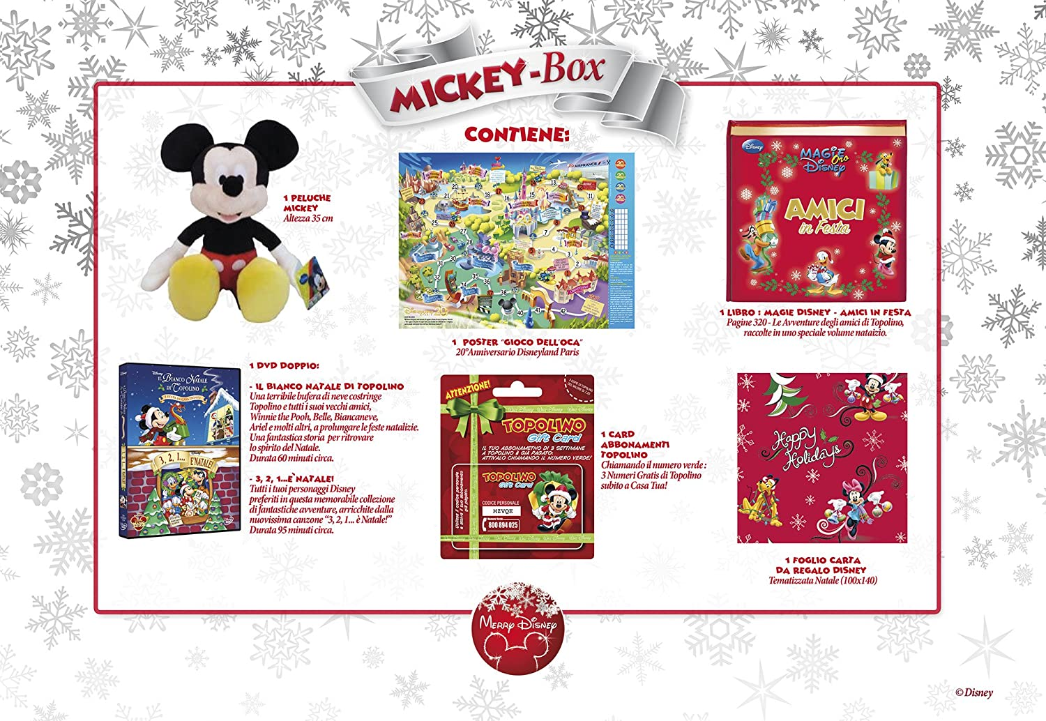 Amazon.com: merry disney box topolino (2 dvd+libro+peluche) box set dvd Italian Import: Movies & TV