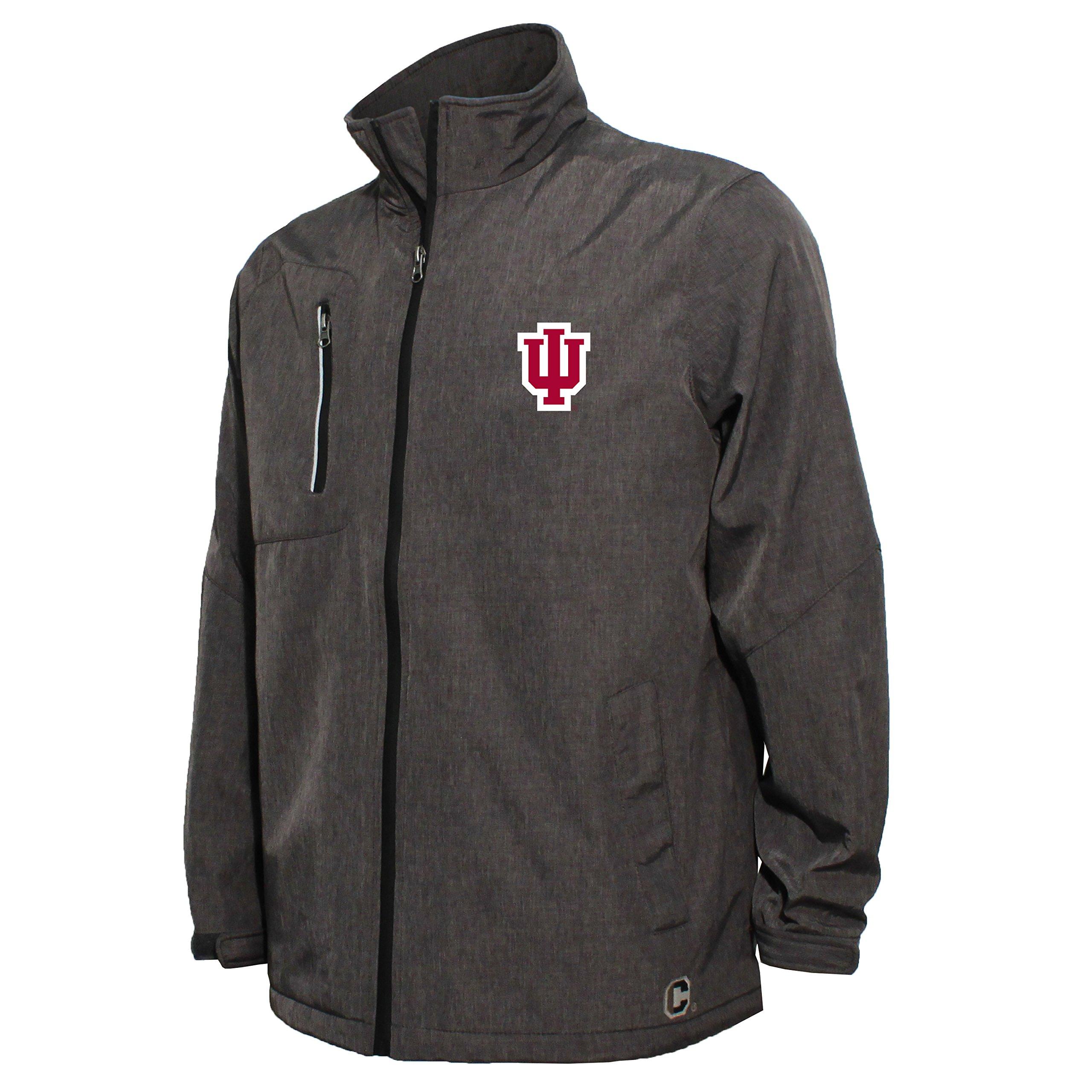 NCAA Indiana Hoosiers Men's Bonded Stand Up Collar Stadium Jacket, Small, Dark Gray