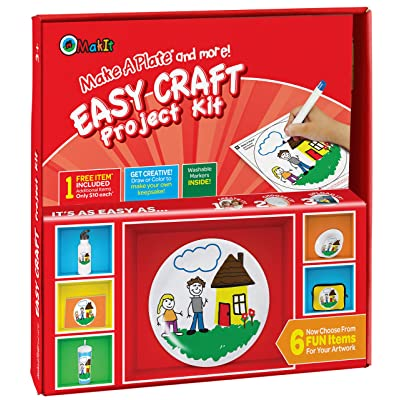 Makit Products Make a Plate and More - Easy Craft Project Kit: Toys & Games [5Bkhe1806231]