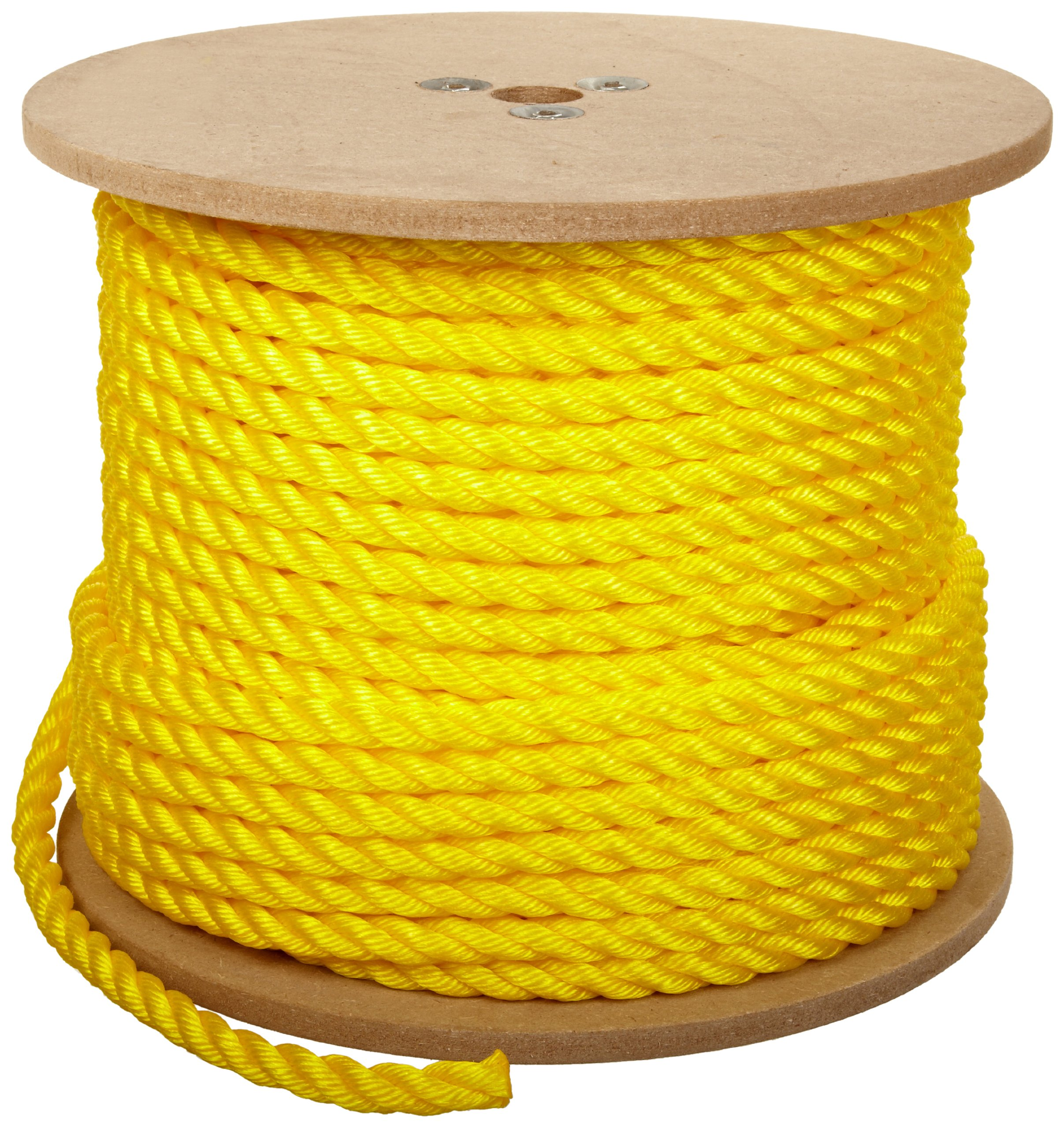 Rope King TP-58300Y Twisted Poly Rope - Yellow - 5/8 inch x 300 feet