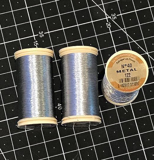 43.7-Yard DMC 283Z Metallic Embroidery Thread Light Silver